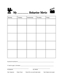 Hollywood Themed Monthly Behavior/Discpline Chart
