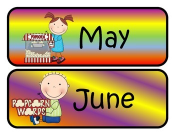 Movie Themed Monthly Calendar Headers