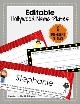 Movie Themed Name Plates