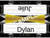 Movie Themed Name Plates and More! (Editable)