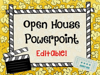 Movie Themed Open House Powerpoint