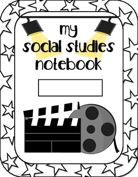 Movie Themed Social Studies Notebook Cover