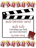 Movie Themed Sub Tub, Substitute Binder Editable! {48 pages}
