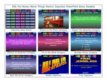 Movie Things-Genres Jeopardy PowerPoint Game