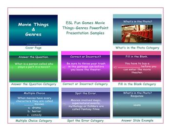 Movie Things-Genres PowerPoint Presentation