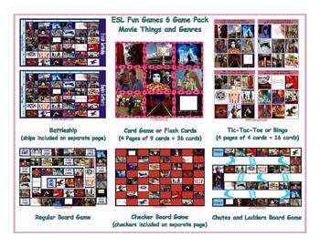 Movie Things and Genres  6 Board Game Bundle