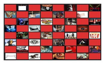Movie Things and Genres Legal Size Photo Checkerboard Game