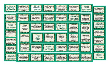 Movie Things and Genres Spanish Board Game