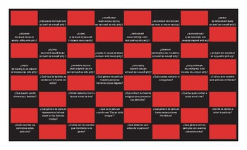 Movie Things and Genres Spanish Checker Board Game