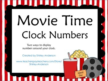 Movie Time (Hollywood) Clock Numbers
