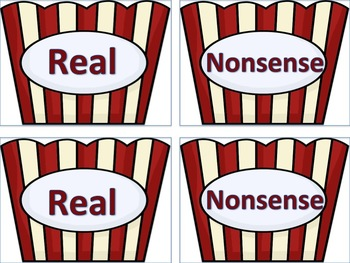 Movie Time II (real and nonsense words)