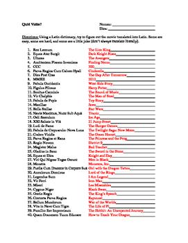 Movie Titles in Latin