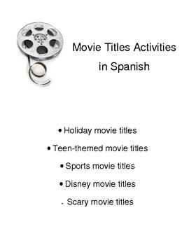 Movie Titles in Spanish - 5 activities