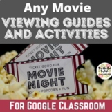 Movie Guide Graphic Organizer - Cinema Literacy.  Movie Analysis. Film Studies.