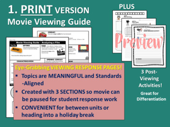 Movie Guide - Use with ANY Movie - Standards-Aligned