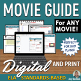 Movie Guide - Distance Learning DIGITAL & Print - ANY Movie  - Standards-Aligned