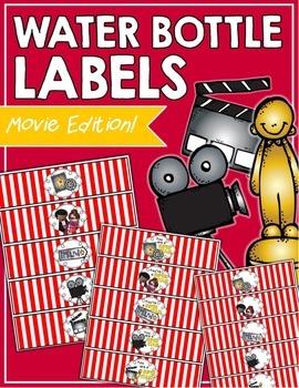 Movie Water Bottle Labels