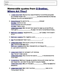 Movie Worksheet: O Brother Where Art Thou  (Depression Movie)