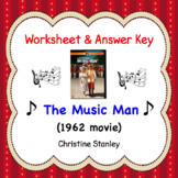 The Music Man ♫ ♫  ♫  Movie Worksheet (+ Answer Key)