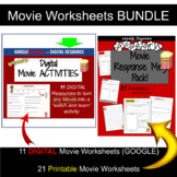 Movie Review Template and Worksheets BUNDLE