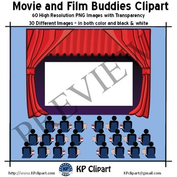 Movie and Film Buddies Clipart