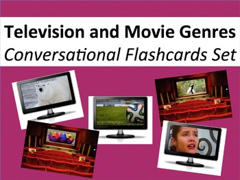 Movie and Television Genres in Spanish - Conversational Flashcards Set