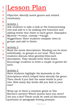 Movie genres with Tim Burton