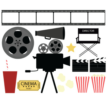 Movie night clip art