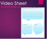 Movie or Video Clip Handout Template Any Movie