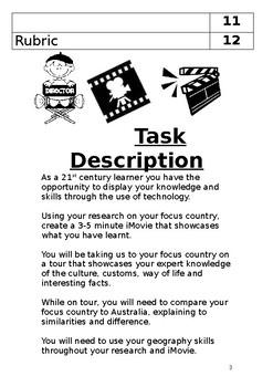 Movie planning booklet