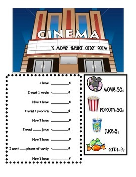 Movie theater order form