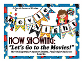 Movie - Hollywood themed Bulletin board banner letters