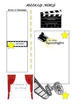 Movie- themed Newsletter