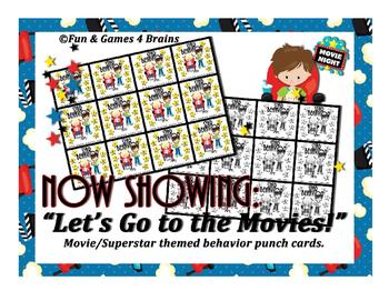 Movie - Hollywood themed behavior punch card