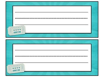 Movie Themed desk name tags with an EDITABLE version