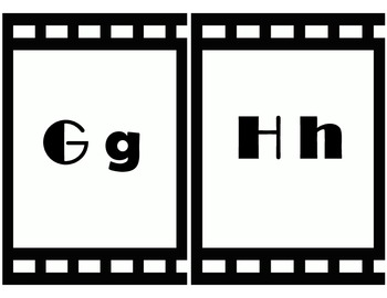 Movie themed word wall headers