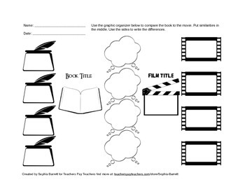Movie vs. Book Graphic Organizer