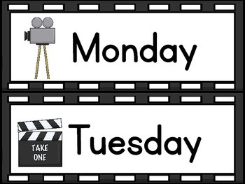 Movie/Hollywood Classroom Decor Packet