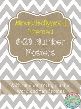 Movie/Hollywood Themed 0-20 Numbers Posters
