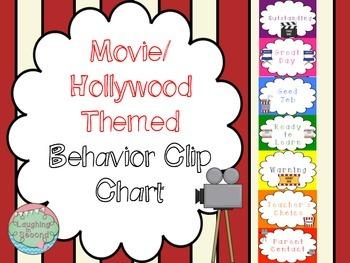 Movie/Hollywood Themed Behavior Clip Chart