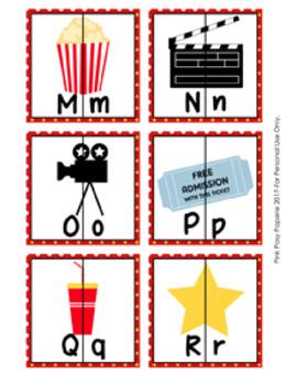 Movies Alphabet Letter Match Puzzles