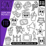 Movies Doodle Font {Zip-A-Dee-Doo-Dah Designs}