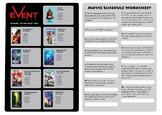 Movies - Elapsed Time Worksheet