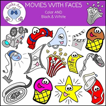 Movies / Film {With Faces} Clip Art