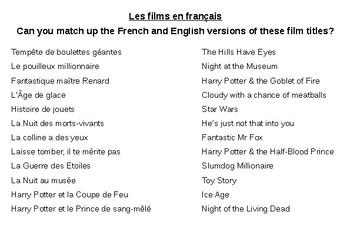 Movies / Les films