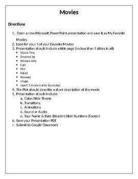 Movies-PowerPoint Presentation