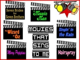 Movies That Sing to Me Bulletin Board Kit About Musicals