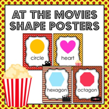 Movies Theme Shape Posters