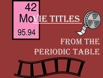 Movies Using the Elements of the Periodic Table