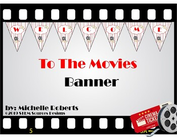 Movies and Popcorn Welcome Bunting